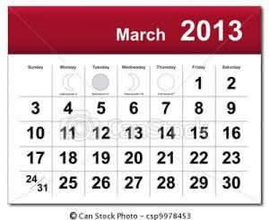 calendário março 300x246 Calendário Março – Feriados, Datas Comemorativas